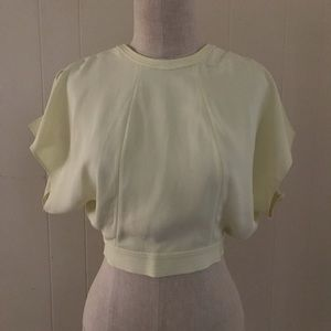 open back cropped ZARA top NWT